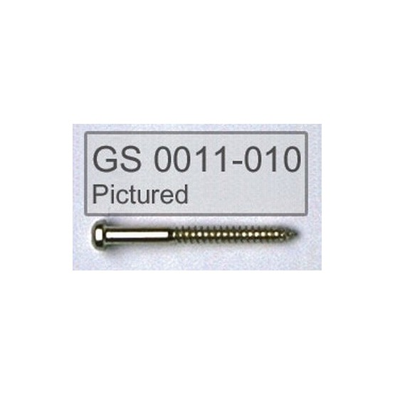 ALL PARTS GS0011003 PICKUP MOUNTING SCREWS FOR BASS, BLACK, 1-1/4 LONG