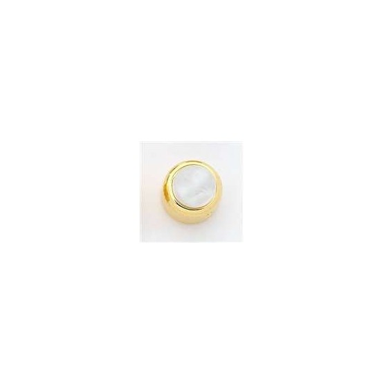 ALL PARTS MK3170002 WHITE PEARL ACRYLIC ON GOLD KNOB WITH SET SCREW