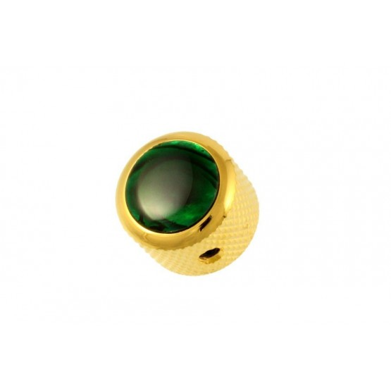 ALL PARTS MK3179002 GREEN ABALONE ON GOLD KNOB WITH SET SCREW. OUTLET