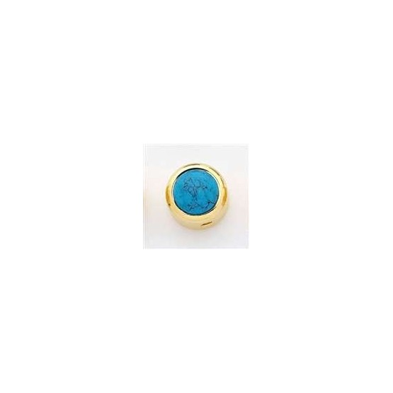 ALL PARTS MK3180002 TURQUOISE ON GOLD KNOB, WITH SET SCREW