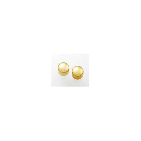 ALL PARTS MK3300002 GOLD DOME KNOBS (2) PUSH-ON FITS SPLIT SHAFT POTS