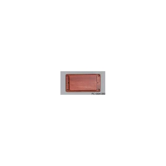 ALL PARTS PC03040B0 BUBINGA HUMBUCKING PICKUP COVER WITH NO HOLES, WITH BUBINGA RING
