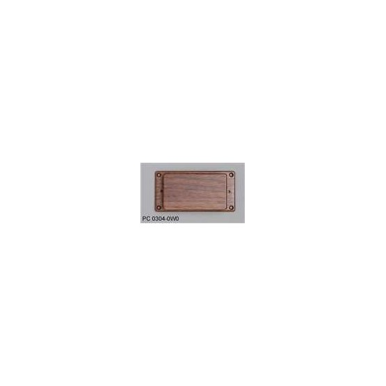 ALL PARTS PC03040W0 WALNUT HUMBUCKING PICKUP COVER WITH NO HOLES, WITH WALNUT RING