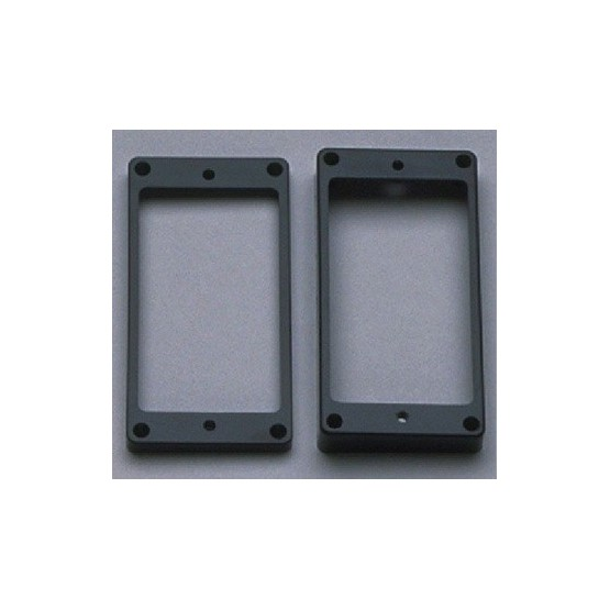 ALL PARTS PC0743023 HUMBUCKING PICKUP RING SET - NECK AND BRIDGE, SLANTED, BLACK PLASTIC