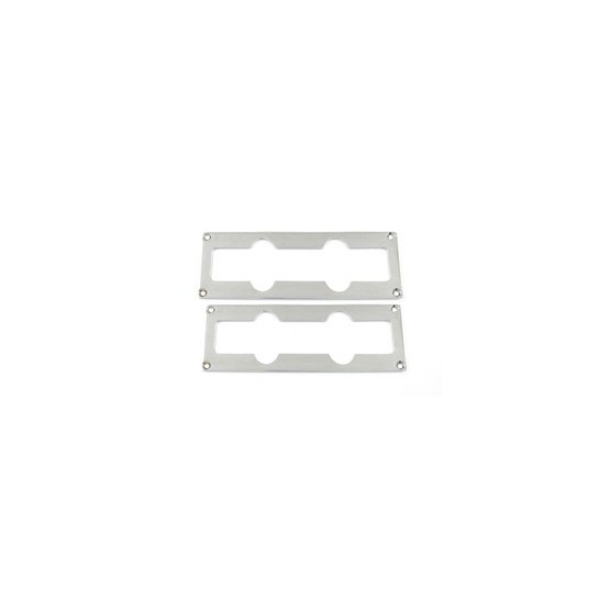 ALL PARTS PC0766010 METAL PICKUP MOUNTING RING SET - NECK AND BRIDGE FOR J BASS, CHROME