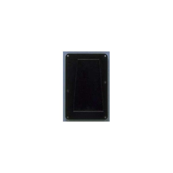 ALL PARTS PG0548023 TREMOLO SPRING COVER, WITH ACCESS PANEL, BLACK 1-PLY