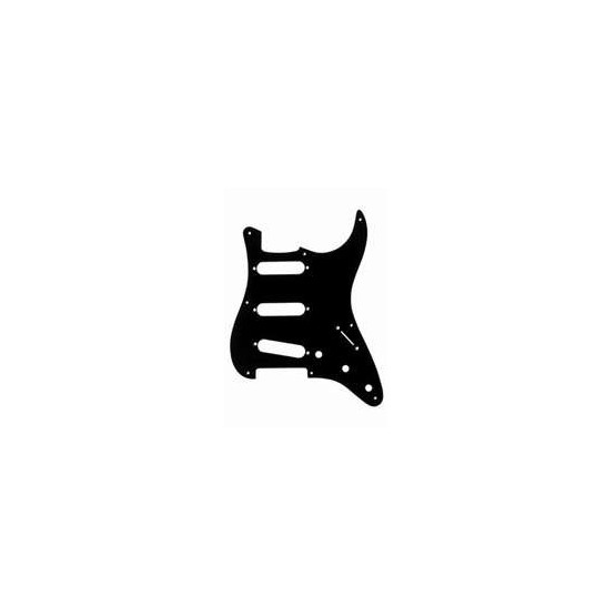 ALL PARTS PG0550023 PICK GUARD FOR STRAT, BLACK 1-PLY (8 SCREW HOLES)