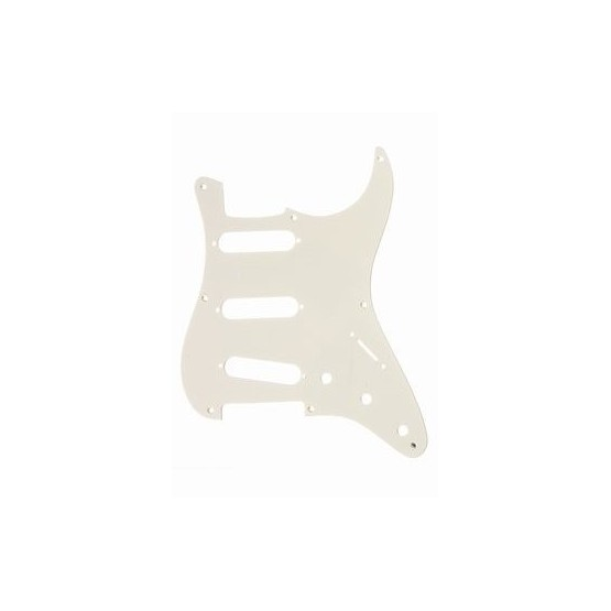 ALL PARTS PG0550051 PICK GUARD FOR STRAT, PARCHMENT 1-PLY (OLD WHITE) (8 SCREW HOLES)