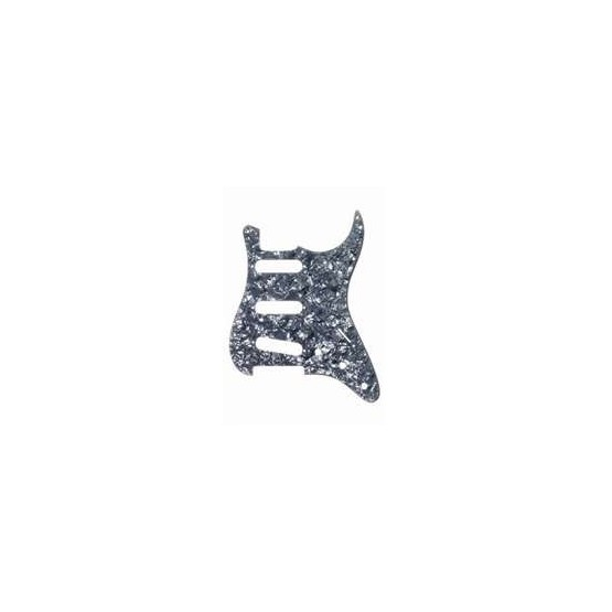 ALL PARTS PG0552053 PICK GUARD FOR STRAT, BLACK PEARLOID 3-PLY (BP/B/W) (11 SCREW HOLES)