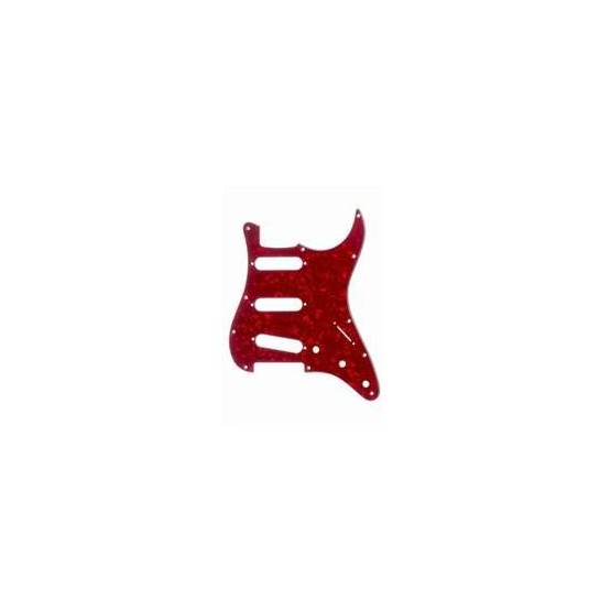 ALL PARTS PG0552056 PICK GUARD FOR STRAT, RED PEARLOID 3-PLY (RP/W/B) (11 SCREW HOLES)