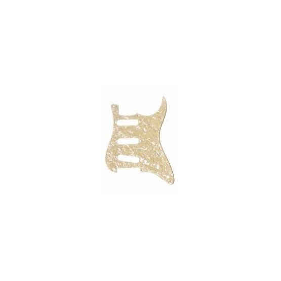 ALL PARTS PG0552058 PICK GUARD FOR STRAT, CREAM PEARLOID 3-PLY (CP/B/W) (11 SCREW HOLES)