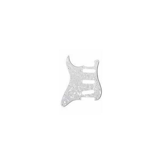 ALL PARTS PG0552L55 PICK GUARD FOR STRAT LEFT-HANDED WHITE PEARLOID 3-PLY