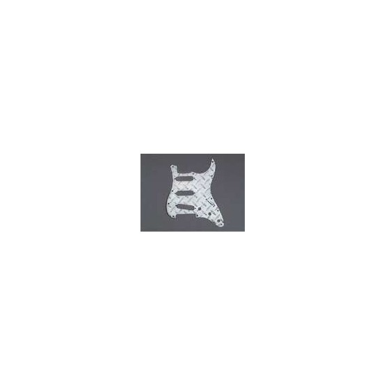 ALL PARTS PG0559010 PICK GUARD FOR STRAT POLISHED ALUMINUM DIAMOND PLATE (11 SCREW HOLES)