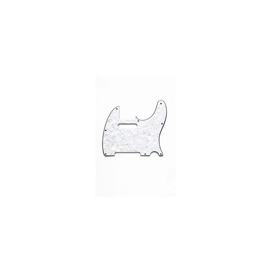 ALL PARTS PG0562055 PICK GUARD FOR TELE, WHITE PEARLOID 3-PLY (WP/W/B) (8 SCREW HOLES)