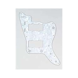 ALL PARTS PG0582055 PICK GUARD FOR JAZZMASTER, WHITE PEARLOID 3-PLY (WP/W/B)
