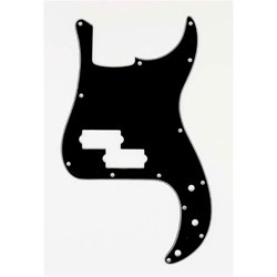 ALL PARTS PG0750033 PICK GUARD FOR P BASS, BLACK 3-PLY (B/W/B)