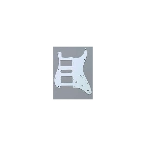 ALL PARTS PG0994035 PICK GUARD 2 HUMBUCKERS - 1 SINGLE COIL FOR STRAT WHITE