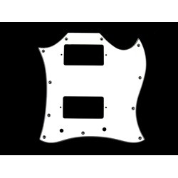 ALL PARTS PG9803035 PICK GUARD FOR SG FULL FACE 3-PLY WHITE (W/B/W)