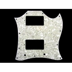 ALL PARTS PG9803055 PICK GUARD FOR SG FULL FACE 3-PLY WHITE PEARLOID