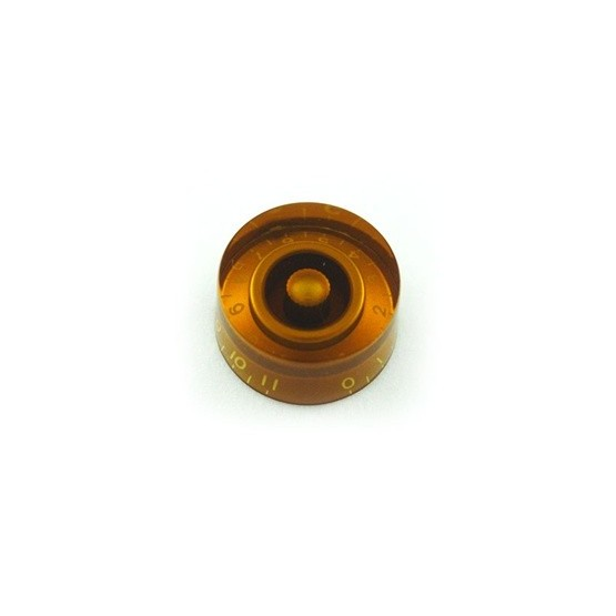 ALL PARTS PK0132022 SPEED KNOBS (2) AMBER, NUMBERS 0 - 11, FITS USA SPLIT SHAFT POTS
