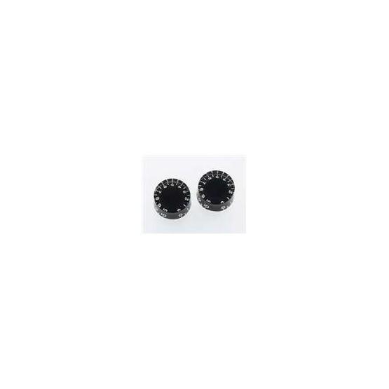 ALL PARTS PK0134023 SPEED KNOBS (2) BLACK VINTAGE TINT VINTAGE STYLE NUMBERS