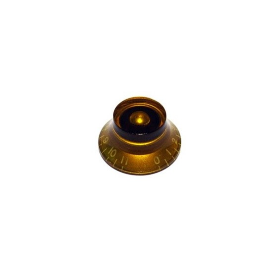 ALL PARTS PK0142022 BELL KNOBS (2) AMBER, NUMBERS 0 - 11, FITS USA SPLIT SHAFT POTS