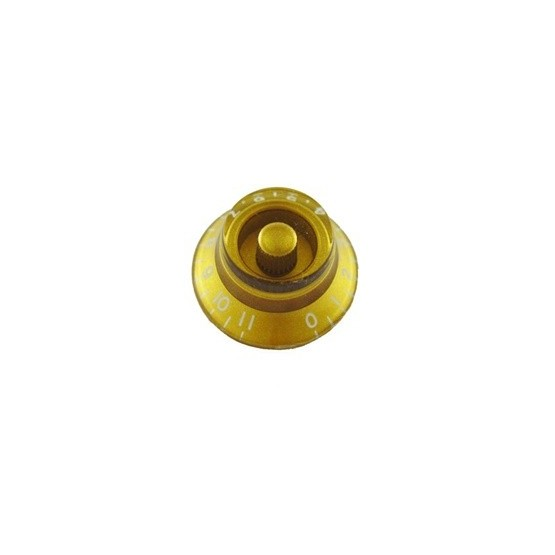 ALL PARTS PK0142032 BELL KNOBS (2) GOLD, NUMBERS 0 - 11, FITS USA SPLIT SHAFT POTS