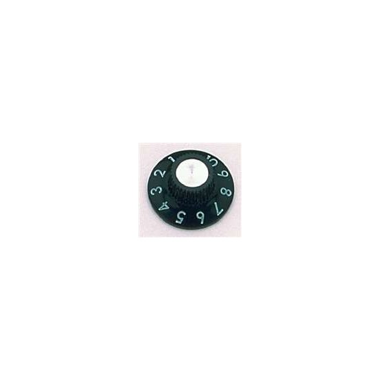 ALL PARTS PK0145023 AMP KNOBS - FOR FENDER (2 PIECES) BLACK WITH SET SCREW