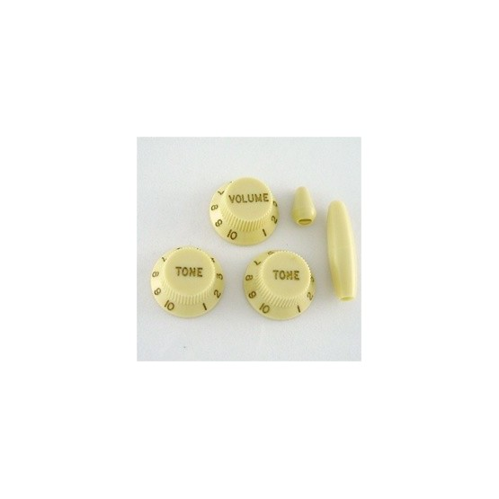 ALL PARTS PK0178048 VINTAGE CREAM KNOB SET FOR STRAT