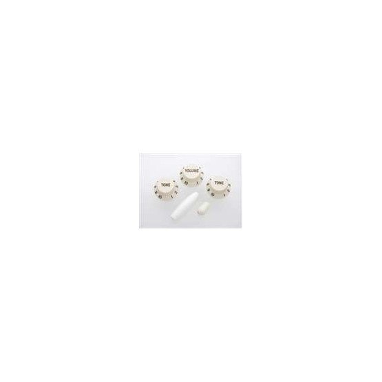ALL PARTS PK0178050 PARCHMENT (OLD WHITE) KNOB SET FOR STRAT