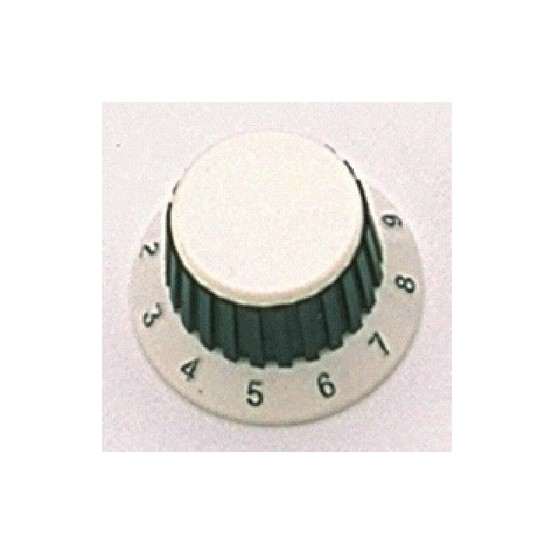 ALL PARTS PK0183025 WHITE KNOBS (2) WITH BLACK RUBBER GRIP, FITS USA SPLIT SHAFT POTS. OUTLET