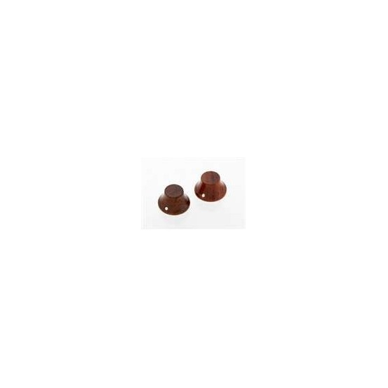 ALL PARTS PK31970B0 BUBINGA WOOD BELL KNOBS (2) PUSH-ON. OUTLET