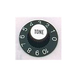 ALL PARTS PK3242023 WITCH HAT TONE KNOBS (2) BLACK, FITS USA SPLIT SHAFT POTS
