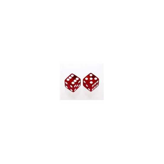 ALL PARTS PK3250067 TRANSPARENT RED DICE KNOBS (2 PIECES) WITH SET SCREW