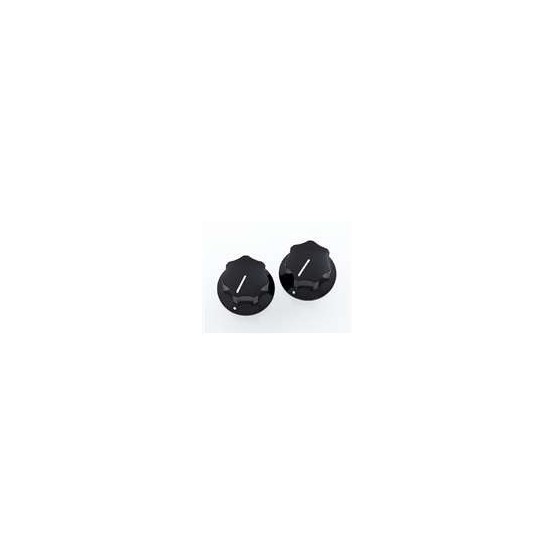 ALL PARTS PK3256023 BLACK KNOBS (2) FOR MUSTANG FITS SOLID SHAFT POTS