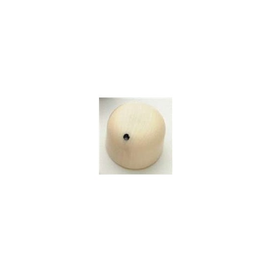 ALL PARTS PK3270000 SIMULATED IVORY KNOBS (2) DOME KNOB SHAPE, WITH BLACK DOT, PUSH ON