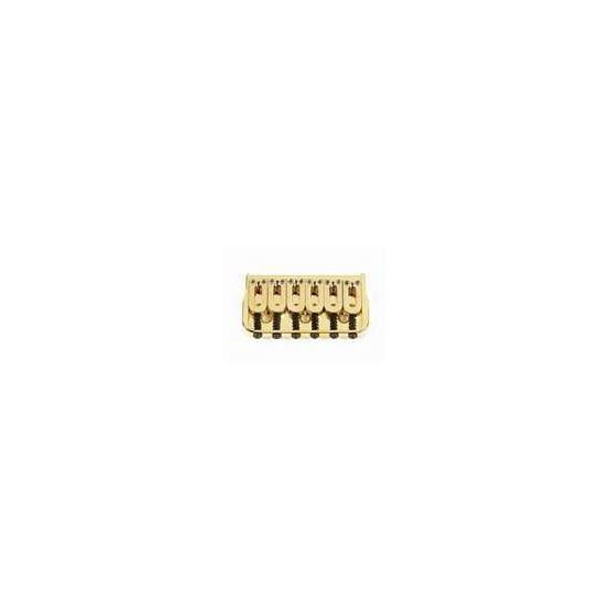 ALL PARTS SB5105002 HIPSHOT NON-TREMOLO BRIDGE WITH STEEL SADDLES GOLD