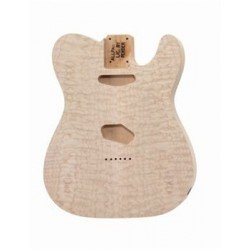 ALL PARTS TBOQM REPLACEMENT BODY FOR TELE ALDER, WITH AAA QUILT MAPLE TOP, NO FINISH. OUTLET