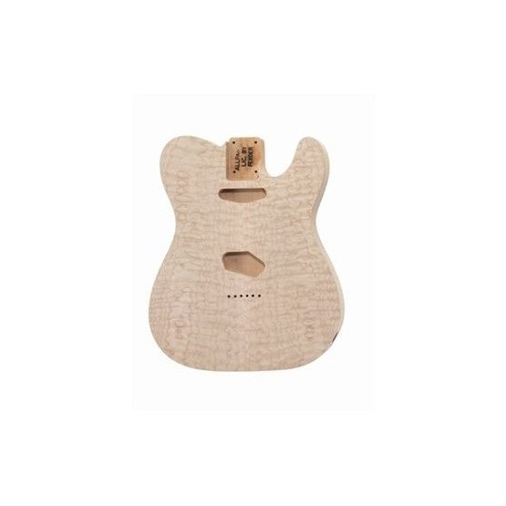 ALL PARTS TBOQM REPLACEMENT BODY FOR TELE ALDER, WITH AAA QUILT MAPLE TOP, NO FINISH