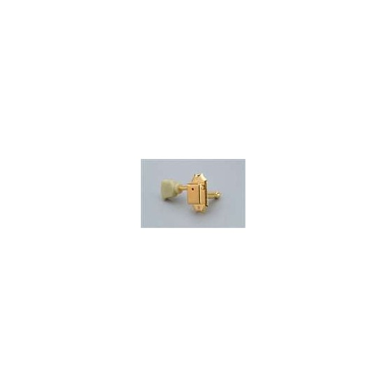 ALL PARTS TK0770002 VINTAGE STYLE TUNING KEYS GOTOH 3 X 3 PLASTIC BUTTONS GOLD