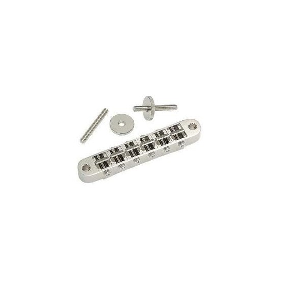 GOTOH GB2540001 NASHVILLE TUNEMATIC, NICKEL, WITH HARDWARE, 2-1/16 STRING, 2-29/32 POST SPACING