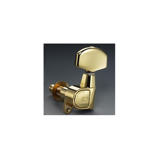 SCHALLER TK0971002 TUNING KEYS, GOLD, 3 X 3, WITH HARDWARE, 14:1 OUTLET