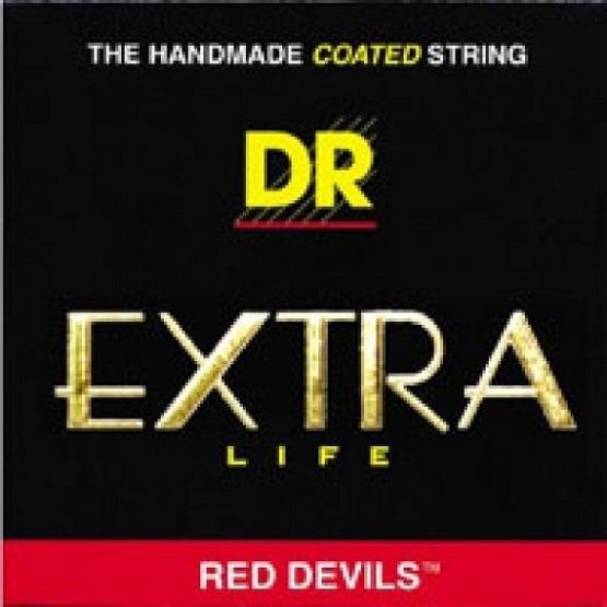 DR RDE9 JUEGO DE CUERDAS ROJO EXTRA LIFE RED DEVILS 09 042. OUTLET