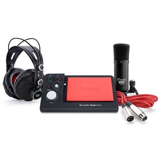 FOCUSRITE iTRACK DOCK STUDIO PACK INTERFAZ DE AUDIO PARA IPAD