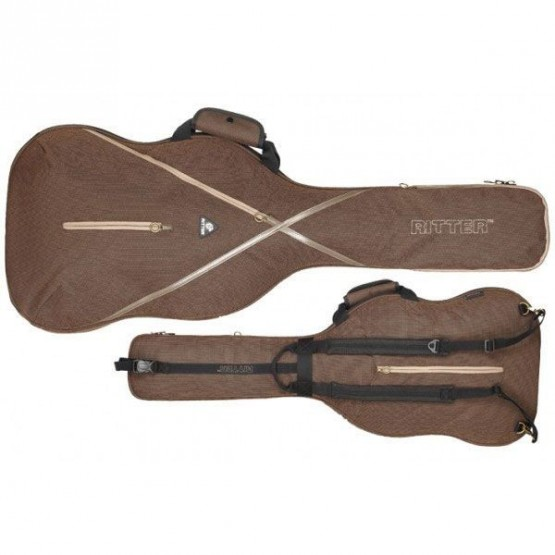 RITTER RGS7E FUNDA GUITARRA ELECTRICA MARRON