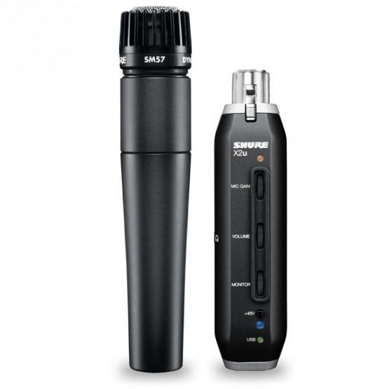 SHURE SM57X2U PACK MICROFONO + ADAPTADOR X2U USB A XLR