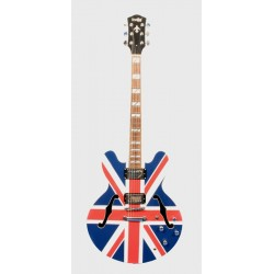 INDIE 1183 GUITARRA ELECTRICA 2 TONE CUSTOM UNION JACK. OUTLET