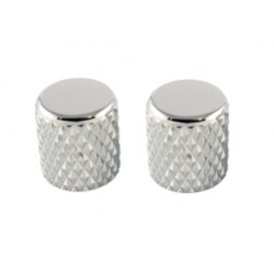 ALL PARTS MK0112010 HEAVY KNURL CHROME BARREL KNOBS (2) FLAT TOP