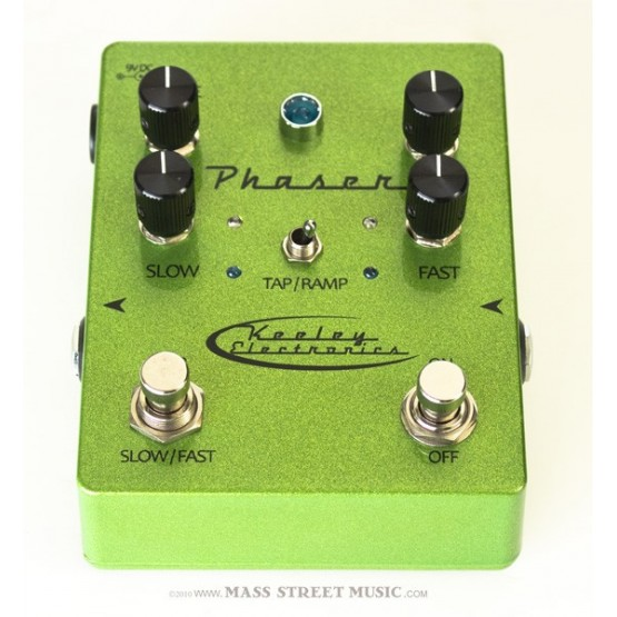 KEELEY PHASER TAP TEMPO TRUEBYPASS GREEN PEDAL. OUTLET