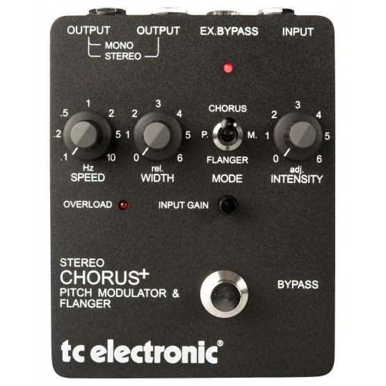 TC ELECTRONIC SCF PEDAL STEREO CHORUS FLANGER